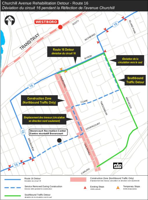 Churchill Avenue Rehabilitation Detour – Route 16